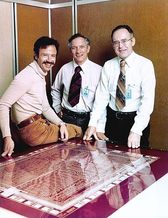 Andy Grove, Robert Noyce and Gordon Moore in 1978 Andy Grove Robert Noyce Gordon Moore 1978 edit.jpg