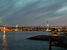 Angus L. Macdonald Bridge in Halifax, Nova Scotia (May 8, 2006.).jpg
