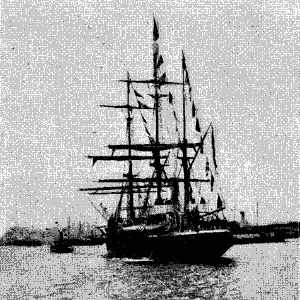Antarctic (ship) - Antarctic leaving Gothenburg harbor, 1901