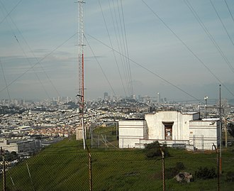Bayview Park, San Francisco - The transmitter for KSFB (former radio station KYA (1260AM)) is still located at the summit of Bayview Park, housed in a building designed by Julia Morgan.