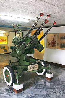 Mitragliera antiaerea, al Museo del Giron