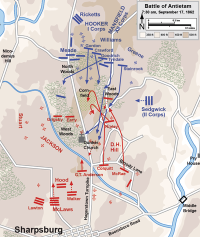 Assaults by the XII Corps, 7:30 to 9:00 a.m.