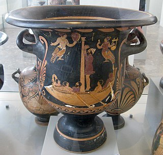 ancient peastan greek vase-painter of red-figure style