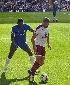 Antonio Rüdiger - Chelsea F.C.'s Antonio Rudiger against Burnley F.C., August 2017