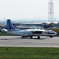 Antonov An-26 Avia Express in Belgrade airport.jpg