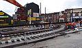 Anzin & Valenciennes - Travaux de raccordement des lignes A & B du tramway de Valenciennes à la Croix d'Anzin le 19 août 2013 (10).JPG