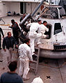 Apollo 13 crew during egress training (S70-24767).jpg