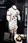 Apollo 15 spacesuit with moondust - Smithsonian Air and Space Museum - 2012-05-15 (7276435588).jpg