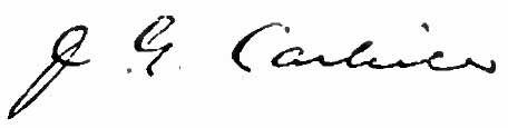 John G. Carlisle's signature