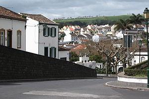 Lagoa, Azores - A view from street level of Água do Pau