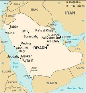 Arabie Saoudite-map