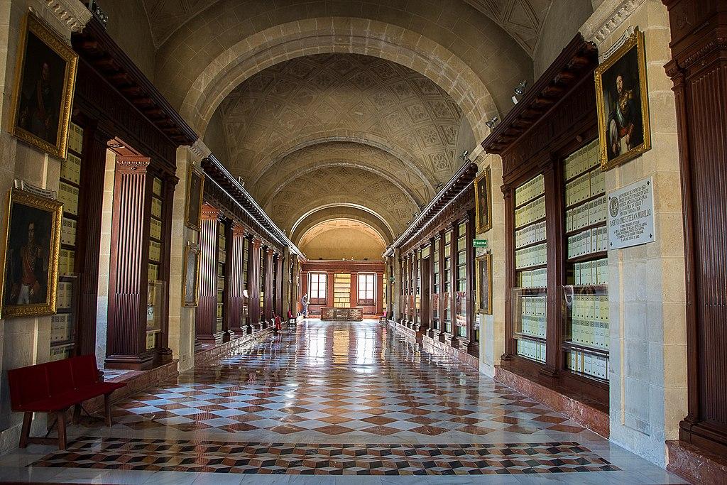 Intérieur des Archives général des Indes à Séville - Photo d'Anual