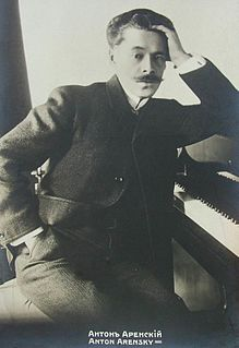 Anton Arensky Russian composer, pianist and professor of music