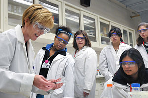 Science education - Young women participate in a conference at the Argonne National Laboratory.