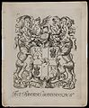 Arms of the London Barber Surgeons' Company. Engraving Wellcome L0048991.jpg