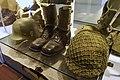 Army uniforms of Norway. Field uniform (feltuniform) M1951 German Stahlhelm helmet (tyskerhjelm) Laced ankle boots Anklets gaiters (gamasjer) American helmet Mesh net cover Backpack etc. Armed Forces Museum (Forsvarsmuseet) Oslo 2020-0.jpg