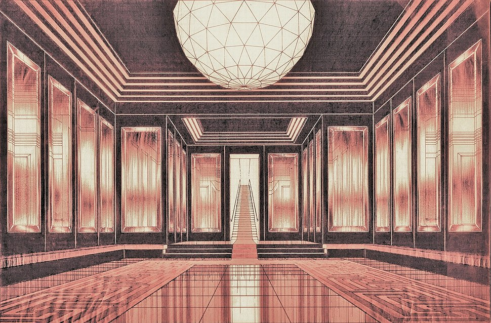 Arnaldo Dell'Ira (1903-1943) Sala d'aspetto per la casa di M.me B.,1939