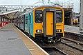 Arriva Trains Wales Class 150, 150257, platform 9, Crewe railway station (geograph 4524774).jpg