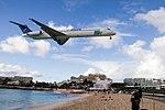 Aruba Air Landing at St. Martin airport (8448707546).jpg