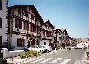 Ascain - Main street in Ascain