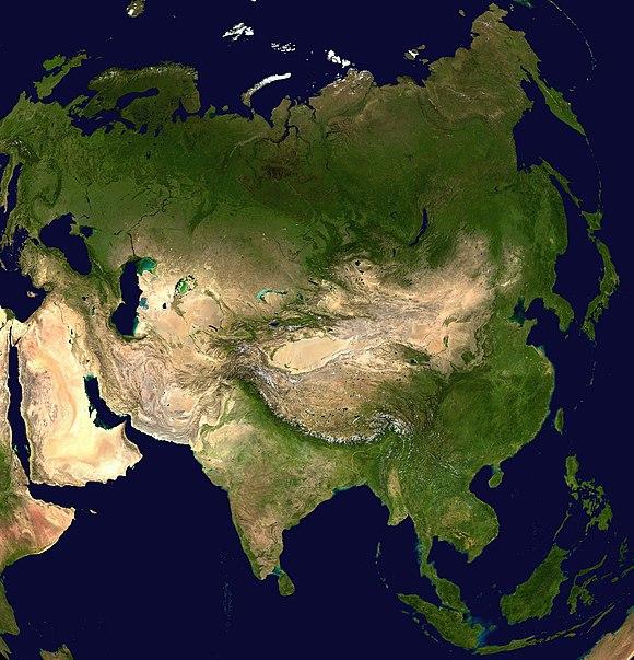 Cartina Dell Asia Orientale.Geografia Dell Asia Wikiwand