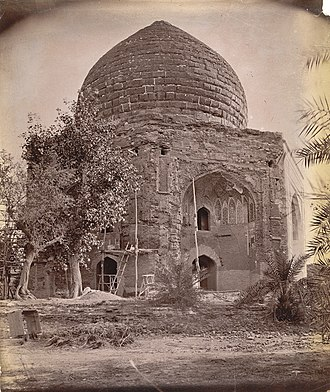 Tomb of Asif Khan - Historical photograph of the tomb, taken in 1880