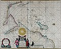 Atlas maritimus, or A book of charts - Describeing the sea coasts capes headlands sands shoals rocks and dangers the bayes roads harbors rivers and ports, in most of the knowne parts of the world. (14773319483).jpg