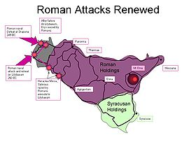 Roman attacks 250–249 BC.