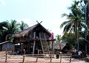 Laotian society - Attapeu Stilt House