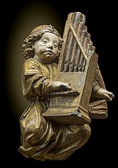 Ange jouant de l'orgue
