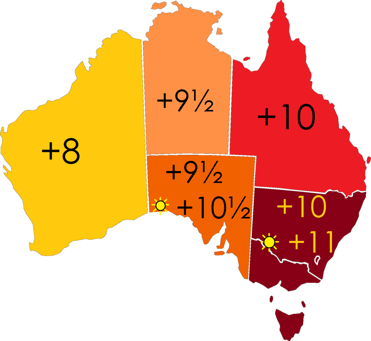 Time In Australia Wikipedia - Us time zone map with times