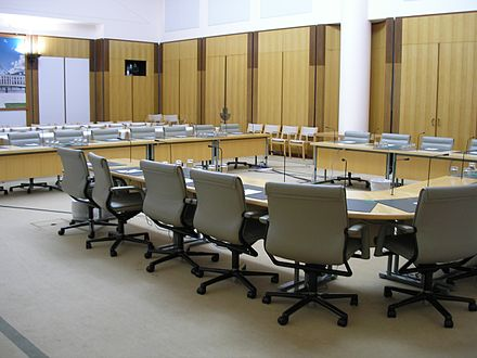 House of Representatives committee room, Parliament House, Canberra AustralianHoRCommitteeRm.JPG