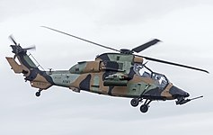 Australian Army (A38-017) Eurocopter Tiger ARH display at the 2015 Australian International Airshow.jpg