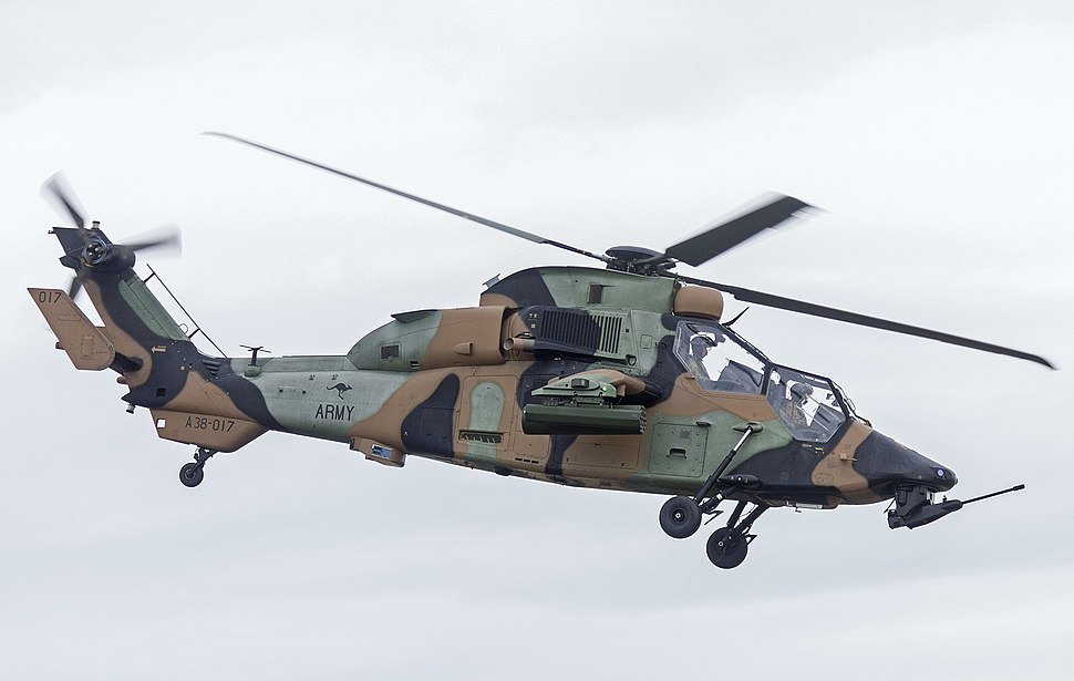 Australian Army (A38-017) Eurocopter Tiger ARH display at the 2015 Australian International Airshow