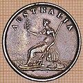 Australian Halfpenny Token Melbourne 1851 - reverse.jpg