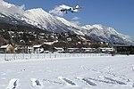 Austrian Airlines Airbus A319 landing at Innsbruck Airport.jpeg