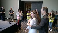 Avner and Darya's wiki Wedding at Wikimania by ovedc 38.jpg
