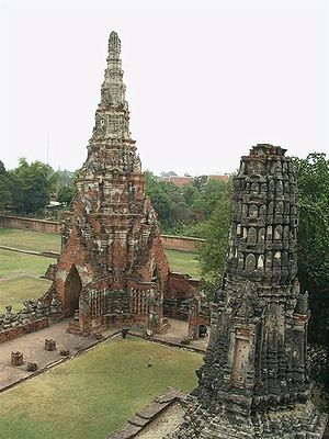 Greater India - Ruins of Ayutthaya in Thailand which was named after Ayodhya