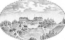 Schloss Alcsút zur Zeit Maria Dorotheas (zeitgenössischer Stich aus dem Jahre 1832) (Quelle: Wikimedia)