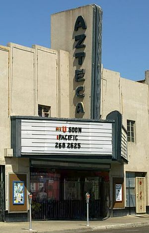 National Register of Historic Places listings in Fresno County, California - Image: Azteca theater fresno 2006