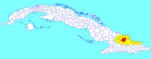 Báguanos - Image: Báguanos (Cuban municipal map)
