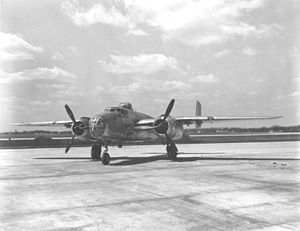 Dateland Air Force Auxiliary Field - North American B-25J Mitchell medium bomber of the kind based at Dateland AAF