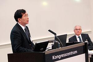 Bai Chunli - Chunli Bai at the opening of CAS Nordic in Lund in 2007