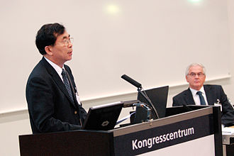 Bai Chunli - Chunli Bai at the opening of CAS Nordic in Lund in 2007