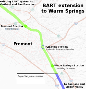 Warm Springs/South Fremont station - Warm Springs Extension open
