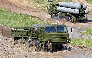 Bryansk Automobile Plant - The BAZ-69092-021 towing vehicle for the 5I57A power generator and the 63T6A power converter for the S-400 (missile) system.
