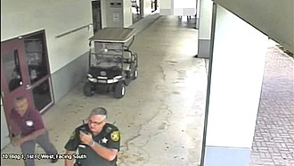 Stoneman Douglas High School shooting - A BCSO deputy outside during the shooting