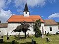 BORRE KIRKE medieval church Kirkebakken HORTEN Norway Kirkegård gravlund cemetery Gravminner gravstøtter gravsteiner headstones tombstones Gamle trær old trees etc 2021-07-08 IMG 8054.jpg