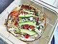 Baby Artichoke quesadilla with Oaxacan cheese, queso fresco, raw tomatillo chile, avocado, red pepper escabeche, herbs.jpg