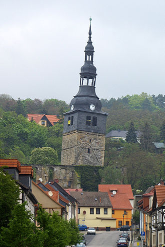 Bad Frankenhausen - The tower of Bad Frankenhausen's Oberkirche is claimed to be the second most crooked tower in Germany.